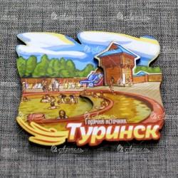"""Магнит цветной """"Горячий источник"""" Туринск"""