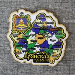 """Магнит карта """"Брянск"""" однослойный"""