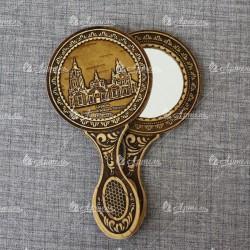 """Зеркало с ручкой """"Знаменская Церковь"""""""