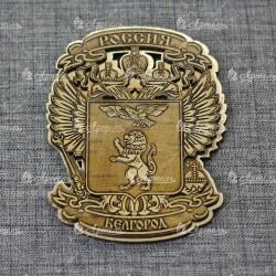"""Магнит из бересты резной c золотом """"Герб-Орел"""" Белгород"""