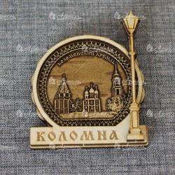 """Магнит из бересты фонарь """"Коломенский кремль"""""""