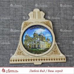 """Магнит колокол """"Крестовоздвиженский собор"""" Верхотурье"""