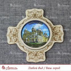 """Магнит крест """"Крестовоздвиженский собор"""" Верхотурье"""