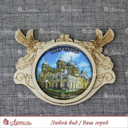 """Магнит ангелы """"Крестовоздвиженский собор"""" Верхотурье"""