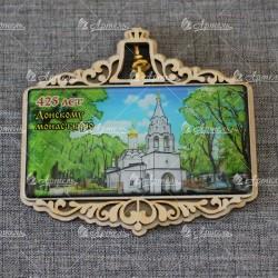 """Магнит со смолой прям.с колокольчиком """"Донской монастырь.Малый собор"""" 425 лет"""