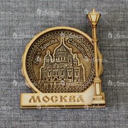 """Магнит из бересты фонарь """"ХХС"""" Москва"""