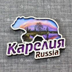 Магнит медведь Russia Карелия