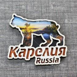 Магнит рысь Russia Карелия