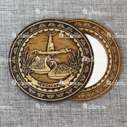 "Зеркало круглое ""Лебеди"" (орнамент 2) Чебоксары"