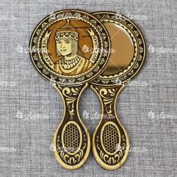 """Зеркало с ручкой """"Шупашкар""""(орнамент 2) Чебоксары"""