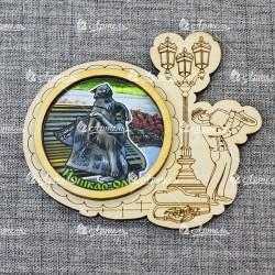 "Магнит грав с ламинацией музыкант ""Йошкин кот"" Йошкар-ола"""