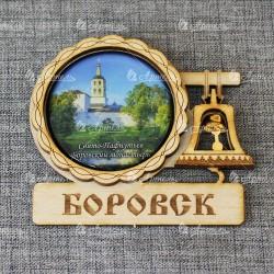 """Магнит со смолой с колоколом """"Св-Пафнутьев Боровский монастырь"""" Боровск"""