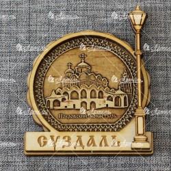"""Магнит из бересты фонарь """"Покровский монастырь"""""""