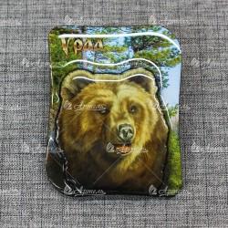 """Магнит со смолой """"Медведь"""" Урал"""