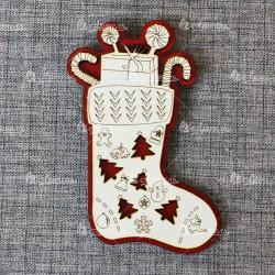 Магнит (красно-белый) Носок с конфетами