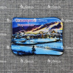 """Магнит со смолой """"Бобровый лог вид2"""" Красноярск"""