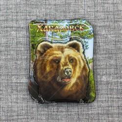 """Магнит со смолой """"Лес+медведь"""" Хабаровск"""