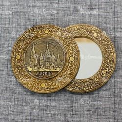 "Зеркало с накладкой ""Красная площадь"" Москва"