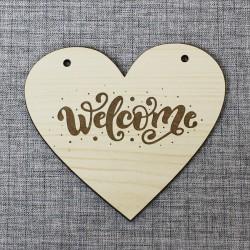 "Подвеска сердце ""Welcome"""