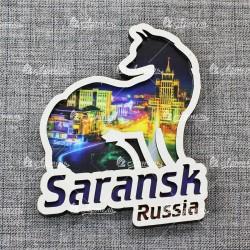 """Магнит лиса """"Ночной вид"""" Saransk"""