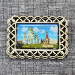 """Магнит со смолой прям. прорезной """"Собор"""" Саранск"""