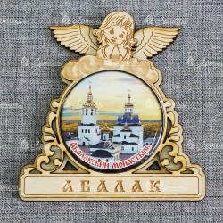 "Магнит со смолой круг ангел ""Абалакский монастырь"" заказ Абалак"