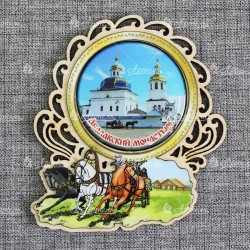 """Магнит со смолой (цвет) тройка """"Абалакский монастырь"""""""
