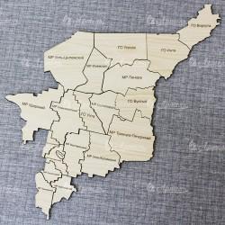 """Карта-пазл """"Республика Коми"""""""