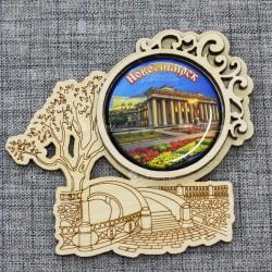 "Магнит грав со смолой плотинка ""Театр"" Новосибирск"