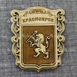 """Магнит из бересты """"Герб"""" Красноярск"""