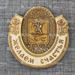 """Магнит из бересты подкова """"Герб"""" Архангельск"""