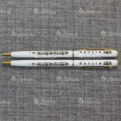 """Ручка металлическая белая """"Калуга"""""""