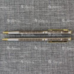 Ручка сувенирная (национ орнамент) надписи на русском и английском. Павлодар и Pavlodar