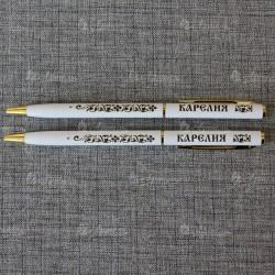 """Ручка металлическая белая """"Карелия"""""""