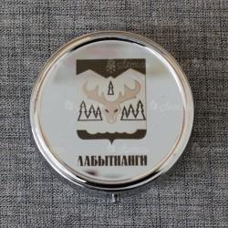 """Таблетница круг """"Герб"""" Лабытнанги"""