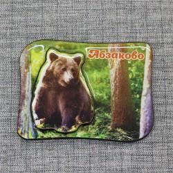 """Магнит со смолой """"Медведь"""" Абзаково"""