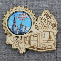 """Магнит грав со смолой автобус """"Казанский Собор"""" Чита"""
