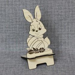"""Подставка под телефон фигурная """"Заяц с яйцом"""""""