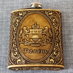 "Фляжка ""Герб"" Тюменская обл"