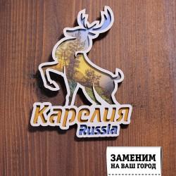 Магнит олень Russia Карелия