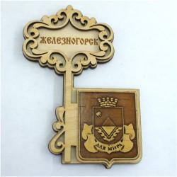 "Магнит из бересты ключ ""Герб"" Железногорск"