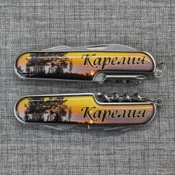 """Нож МФЦ со смолой """"Карелия"""" вид1"""