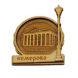"""Магнит из бересты фонарь """"Театр"""" Кемерово"""