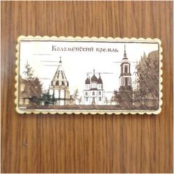 """Магнит из бересты прям """"Коломенский кремль"""" Коломна"""