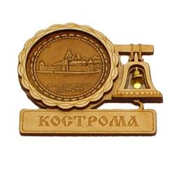 """Магнит из бересты с колоколом """"Ипатьевский монастырь"""" Кострома"""