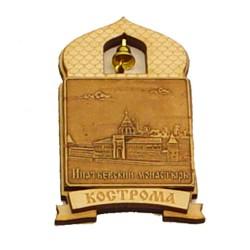 """Магнит из бересты купол """"Ипатьевский монастырь"""" Кострома"""