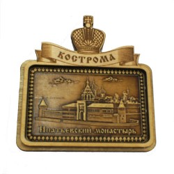 """Магнит из бересты прям корона""""Ипатьевский монастырь"""" Кострома"""