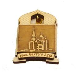"""Магнит из бересты купол """"Храм Святого Духа"""""""
