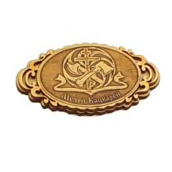 """Магнит из бересты овал """"Логотип музея"""" Мартыново"""