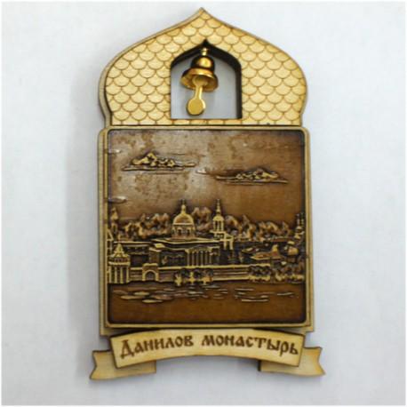 """Магнит из бересты купол """"Данилов монастырь"""""""